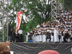 Pope's satellite mass at 49th International Eucharistic Congress Quebec City